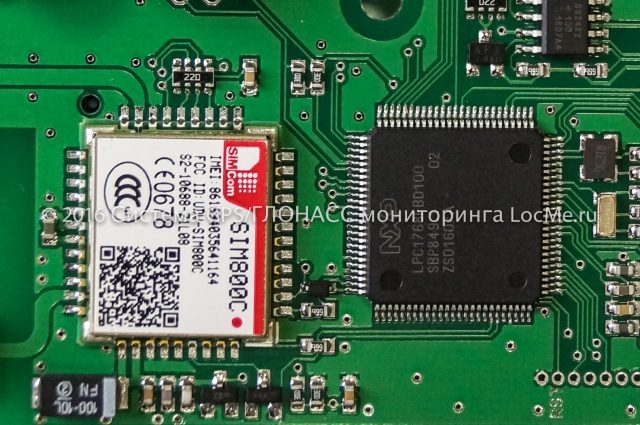 Плата трекера MIELTA M3 - модуль GSM и микроконтроллер