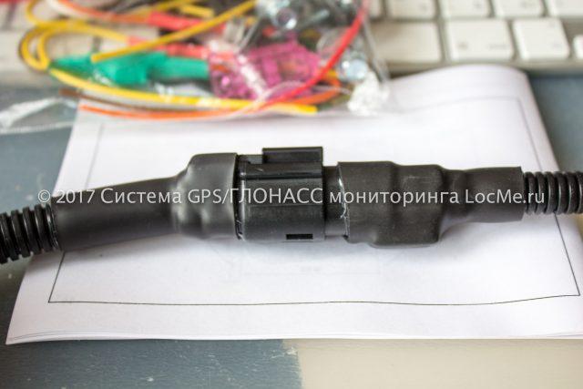 Соединение разъема ДУТ и разъема кабельной трассы датчика Эскорт ТД-500