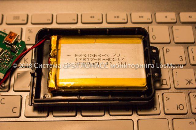 Встроенный аккумулятор трекера Неоматика ADM50