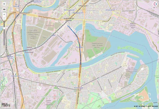 Пример трека ADM50 в метро