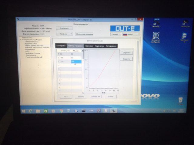 Программа ServiceS6_DUT-E и процесс тарировки DUT-E GSM